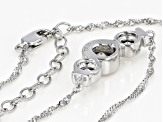 White Cubic Zirconia Platinum Over Sterling Silver Necklace 2.26ctw