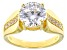 White Cubic Zirconia 18K Yellow Gold Over Sterling Silver Ring 5.00ctw