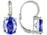 Blue And White Cubic Zirconia Rhodium Over Sterling Silver Earrings 10.95ctw