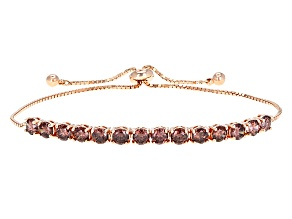 Purple Cubic Zirconia 18k Rose Gold Over Sterling Silver Bracelet 5.73ctw
