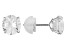 Bella Luce ® 2.86ctw Round 10k White Gold Stud Earrings