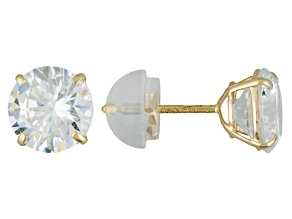 Bella Luce ® 2.86ctw Round 10k Yellow Gold Stud Earrings