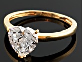 Cubic Zirconia 10k Yellow Gold Heart Ring