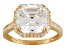 Cubic Zirconia 10k Yellow Gold Ring 7.18ctw