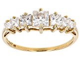 Cubic Zirconia 10k Yellow Gold Ring 1.62ctw
