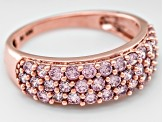 Pink Cubic Zirconia 10 Rose Gold Ring 2.15ctw