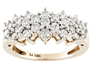 Cubic Zirconia 10k Yellow Gold Ring 2.41ctw (1.02ctw DEW)