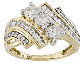 Cubic Zirconia 10k Yellow Gold Ring 2.55ctw (1.45ctw DEW)