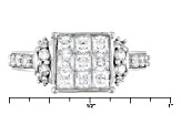 Cubic Zirconia 10k White Gold Ring 2.07ctw (1.25ctw DEW)