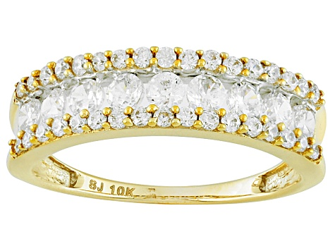 Cubic Zirconia 10k Yellow Gold Ring 1.78ctw (.76ctw DEW)