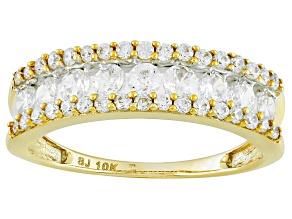 Cubic Zirconia 10k Yellow Gold Ring 1.78ctw (.76ctw DEW)