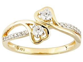 Cubic Zirconia 10k Yellow Gold Ring .44ctw (.20ctw DEW)