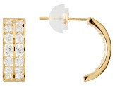 White Cubic Zirconia 10k Yellow Gold Earrings 1.68ctw
