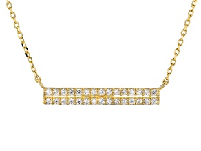 White Cubic Zirconia 10k Yellow Gold Necklace .27ctw