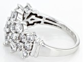 White Cubic Zirconia 10k White Gold Ring 4.05ctw