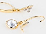White Cubic Zirconia 10k Yellow Gold Earrings 4.34ctw