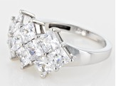 White Cubic Zirconia 10k White Gold Ring 6.40ctw