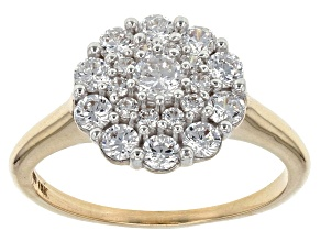 White Cubic Zirconia 10k Yellow Gold Ring 1.80ctw