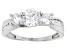 White Cubic Zirconia 10k White Gold Ring 2.60ctw