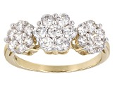 White Cubic Zirconia 10k Yellow Gold Ring 2.25ctw