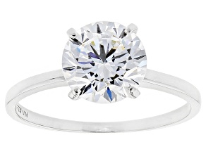 White Cubic Zirconia 10k White Gold Ring 3.29ctw