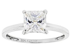 White Cubic Zirconia 10k White Gold Ring 1.75ctw