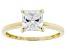White Cubic Zirconia 10k Yellow Gold Ring 1.75ctw