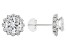 White Cubic Zirconia 10k White Gold Earrings 3.40ctw