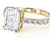 White Cubic Zirconia 10k Yellow Gold Ring 4.72ctw