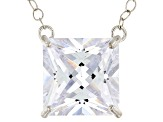 White Cubic Zirconia 10k White Gold Necklace 5.00ctw