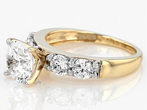 White Cubic Zirconia 10k Yellow Gold Ring 5.19ctw
