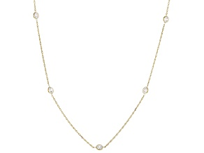 white cubic zirconia 10k yg necklace 2.05ctw