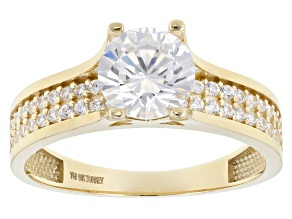 White Cubic Zirconia 10k Yellow Gold Ring 2.63ctw