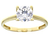 White Cubic Zirconia 10k Yellow Gold Ring 1.75ctw