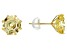 Yellow Cubic Zirconia 10K Yellow Gold Stud Earrings 7.00ctw