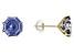 Blue Cubic Zirconia 10K Yellow Gold Stud Earrings 7.00ctw