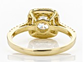 White Cubic Zirconia 10K Yellow Gold Center Design Ring 2.85ctw