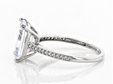 White Cubic Zirconia 10k White Gold Ring 6.33ctw