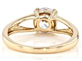White Cubic Zirconia 10k Yellow Gold Ring 2.18ctw