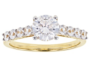 White Cubic Zirconia 10k Yellow Gold Ring 2.80ctw