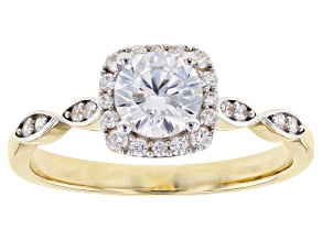 White Cubic Zirconia 10K Yellow Gold Ring 1.67ctw