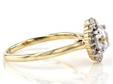 White Cubic Zirconia 10K Yellow Gold Ring 2.48ctw