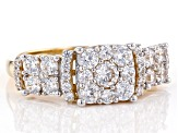 White Cubic Zirconia 10k Yellow Gold Ring 3.00ctw