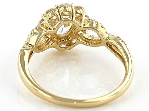 White Cubic Zirconia 10K Yellow Gold Ring 2.50ctw