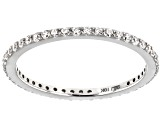 White Cubic Zirconia 10k White Gold Ring 0.46ctw