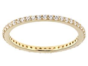 White Cubic Zirconia 10k Yellow Gold Ring 0.46ctw