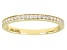 White Cubic Zirconia 10k Yellow Gold Ring 0.23ctw