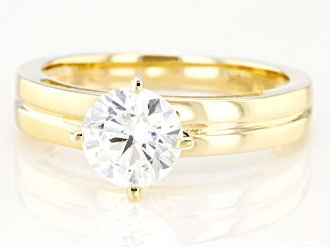 White Cubic Zirconia 10k Yellow Gold Ring 1.98ctw