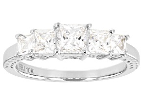 White Cubic Zirconia 10k White Gold Ring 2.35ctw