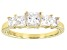 White Cubic Zirconia 10k Yellow Gold Ring 2.35ctw